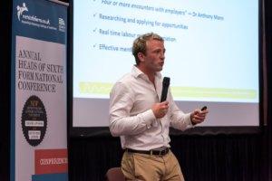 Chris McNamara giving a talk